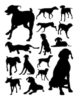 Duits kortharig de hondsilhouet van de wijzers
