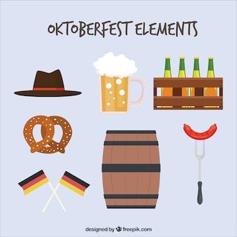 Duitse elementen voor oktoberfest feest