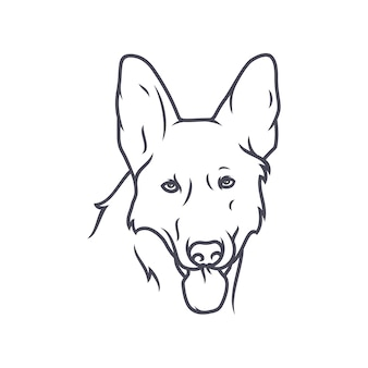 Duitse herder dog - vector logo / pictogram illustratie mascotte