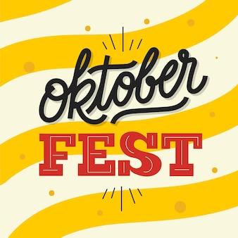 Duitse oktoberfest belettering