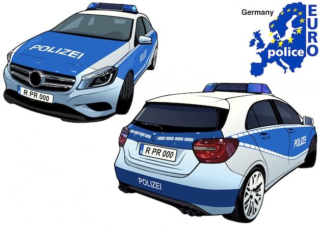Duitse politie-auto