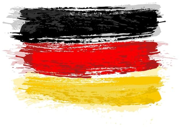 Duitse vlag geschilderd met een penseel