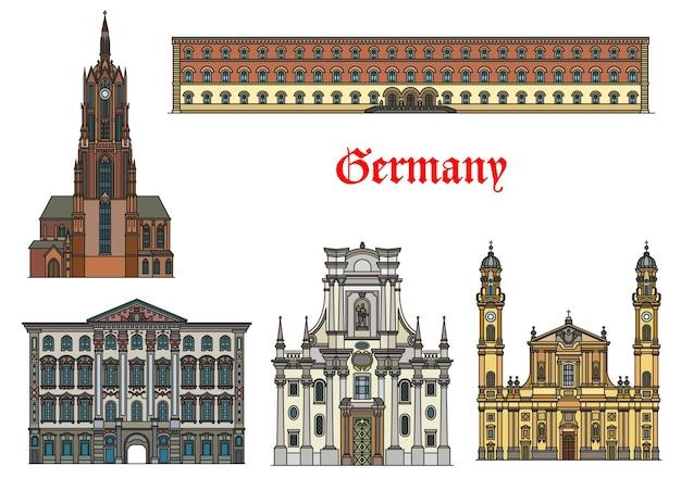Duitsland architectuur, bezienswaardigheden van münchen, gebouwen