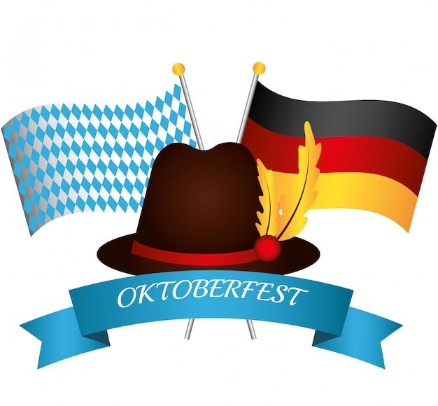 Duitsland culturen en oktober fest design.