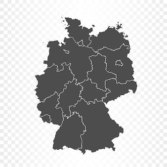 Duitsland kaart geïsoleerd op transparant