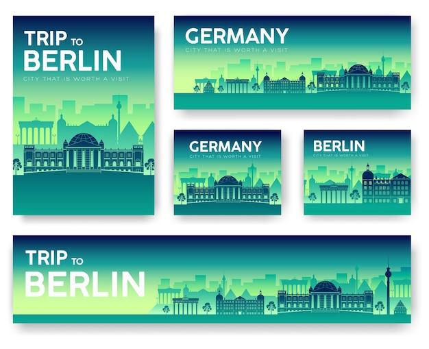 Duitsland landschap vector banners set