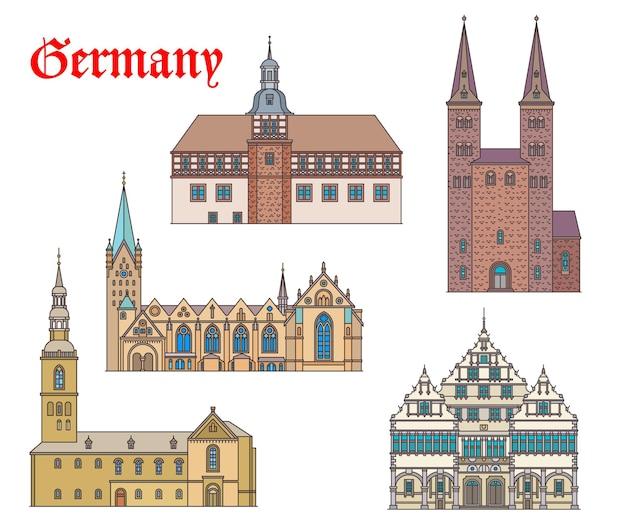 Duitsland monumentale gebouwen architectuur, kerken en kathedralen