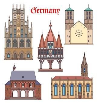 Duitsland monumentale gebouwen, kathedralen, duitse reis beroemde architectuur