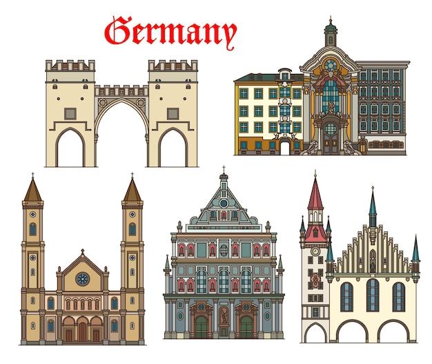 Duitsland, münchen architectuur, monumentale gebouwen