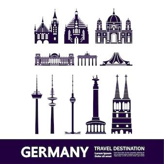 Duitsland reisbestemming illustratie.