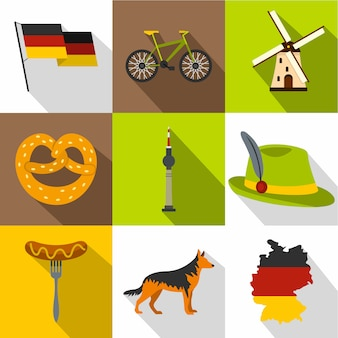 Duitsland set, vlakke stijl