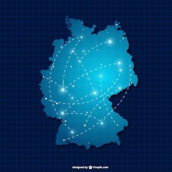 Duitsland silhouet met aansluitingen