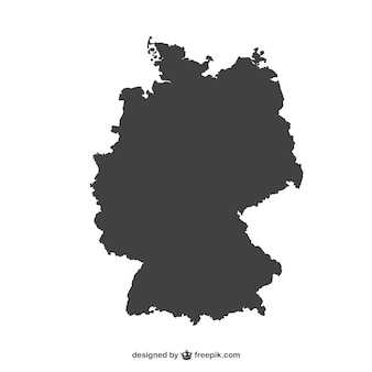 Duitsland silhouet