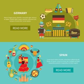 Duitsland spanje banner set