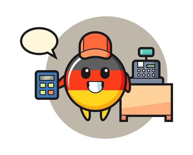 Duitsland vlag badge karakter als kassier