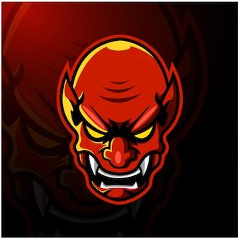 Duivel hoofd esport mascotte logo