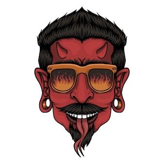 Duivel hoofd illustratie