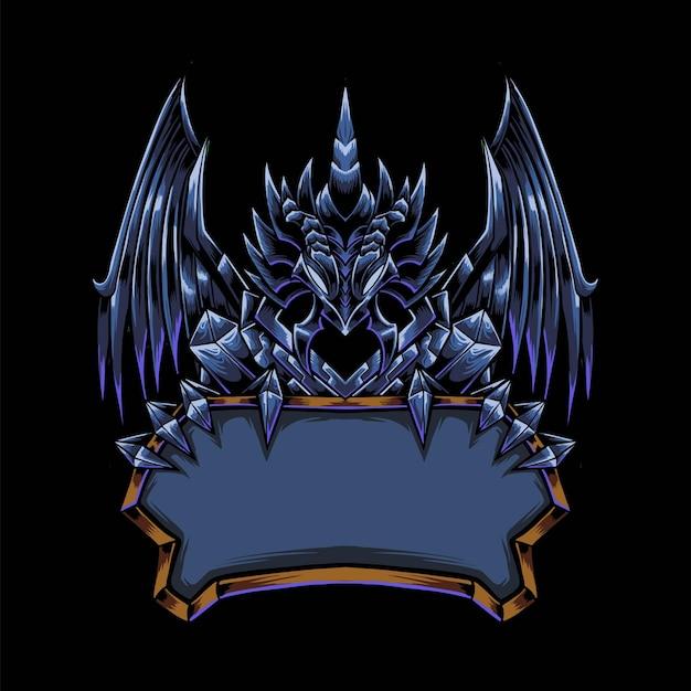 Duivelse draak mascotte logo