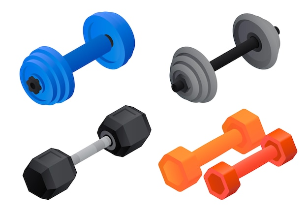 Dumbell-set. isometrische set van dumbell