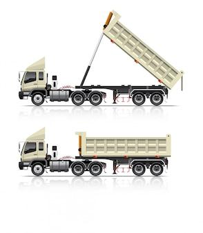 Dump trailer truck illustratie