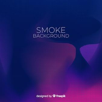 Duotone halftone rook platte achtergrond