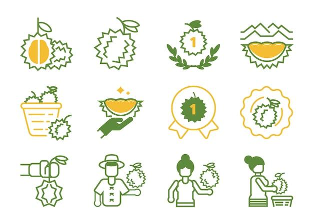 Durain-pictogram van topkwaliteit