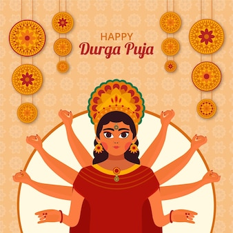 Durga puja festival concept