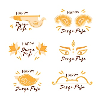 Durga-puja labels-collectie