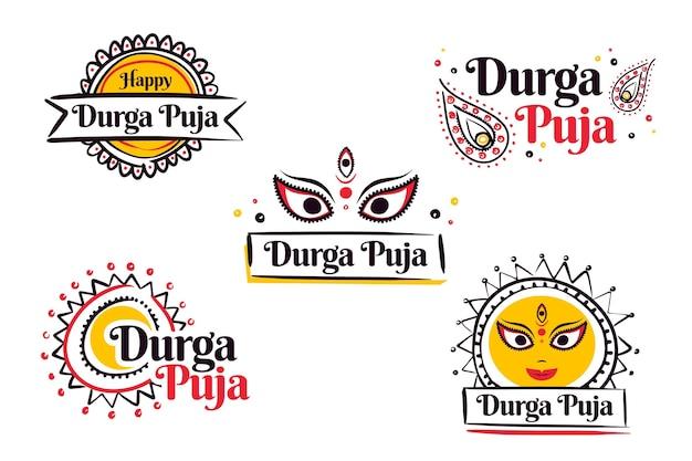 Durga-puja labels-collectie