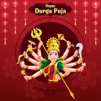 Durga puja navratri festival wenst ontwerp