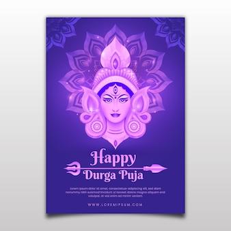 Durga puja poster sjabloon