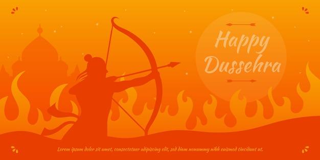 Dussehra-banner met heer rama