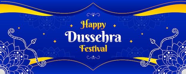 Dussehra banner sjabloonontwerp