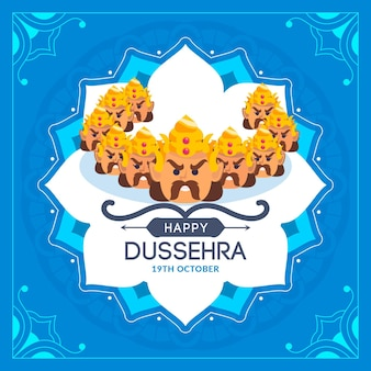 Dussehra-concept in plat ontwerp
