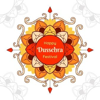 Dussehra-evenement in plat ontwerp