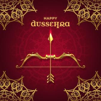 Dussehra festival illustratie concept