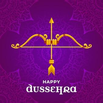 Dussehra festival illustratie thema