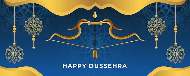 Dussehra festival sjabloon voor spandoek