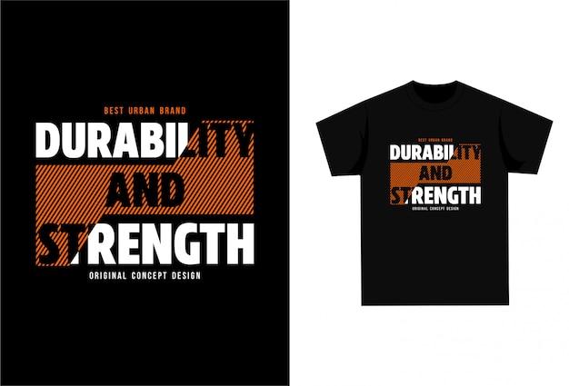 Duurzaamheid en sterkte - grafisch t-shirt om af te drukken