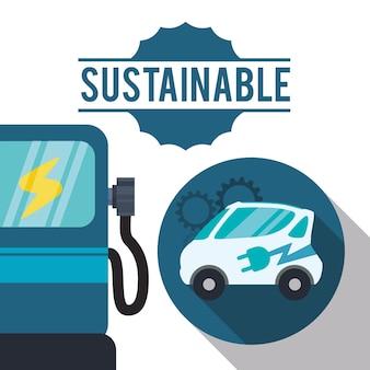 Duurzame auto gas ecologie
