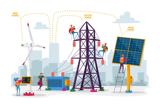 Duurzame ontwikkeling van groene energie