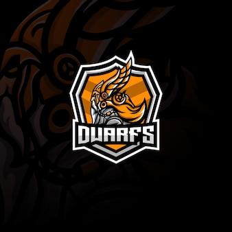 Dwerg mascotte esport-logo.