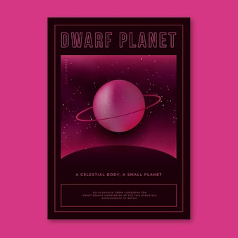 Dwergplaneet en hemels concept jaren 2000 poster
