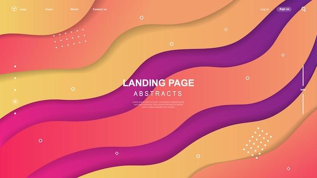 Dynamisch gekleurde vormen en golven. gradiënt abstracte banner met vloeiende vloeibare vormen.