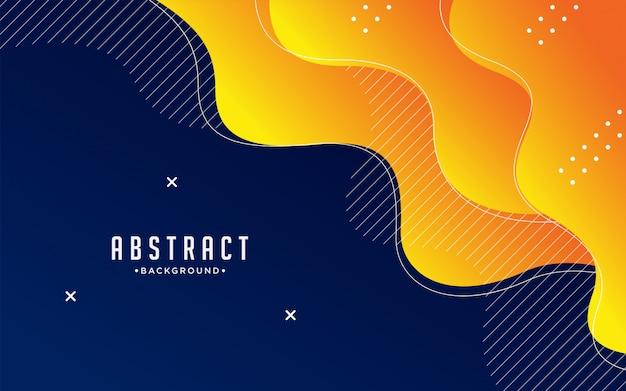 Dynamisch gestructureerd achtergrondontwerp in 3d-stijl met oranje kleur.