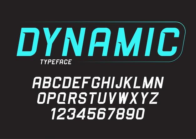 Dynamisch vet cursief lettertype