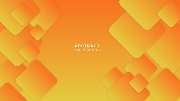 Dynamisch vloeiend oranje geometrisch met kleurrijke gradiëntachtergrond