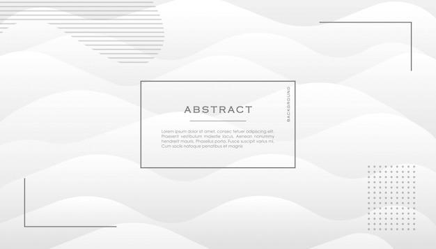 Dynamische 3d witte achtergrond met vloeiende moderne vormen