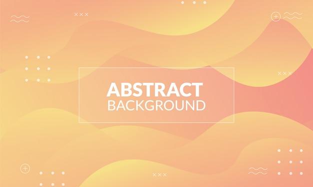 Dynamische abstracte achtergrond met gele pastelkleur