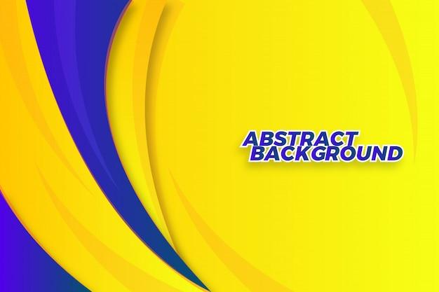 Dynamische abstracte golf vormen achtergrond sjabloon